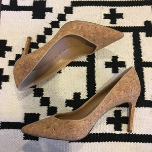 Banana Republic pointed toe cork heels